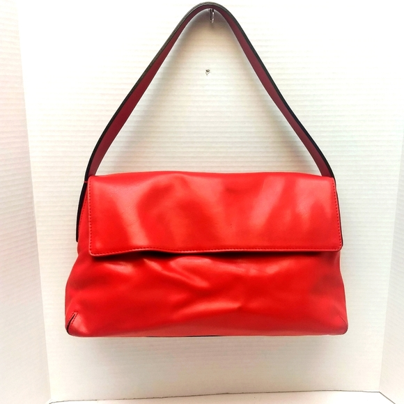 Vintage Red Leather Francesco Biasia Bag